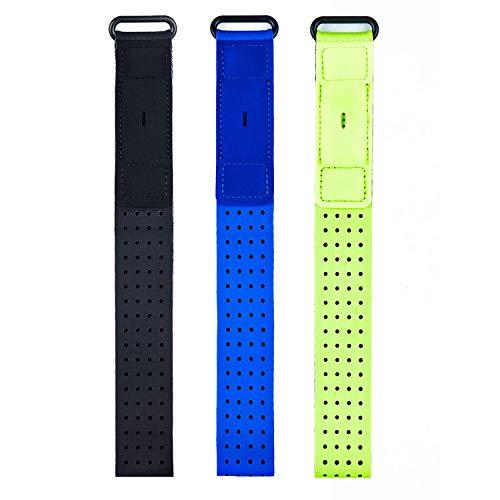 Chofit Band compatibile con Fitbit Inspire/Inspire HR/Charge 2/Charge 3/Alta/Alta HR/Flex/Fitbit One Fitness Tracker, confezione da 3 cinturini per caviglia da 35,8 cm