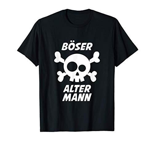 Herren Böser alter Mann Opa Großvater Totenkopf Totenschädel lustig T-Shirt