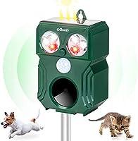 Ehomfy Répulsif Chat Exterieur à Ultrason Puissant avec Batterie Charge Solaire Anti Chien Pigeon Animaux pour Jardin Champs