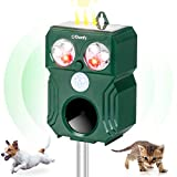 Ehomfy Repellente Gatti, Repellente Ultrasuoni Solare Completamente Automatico e Impermeab...