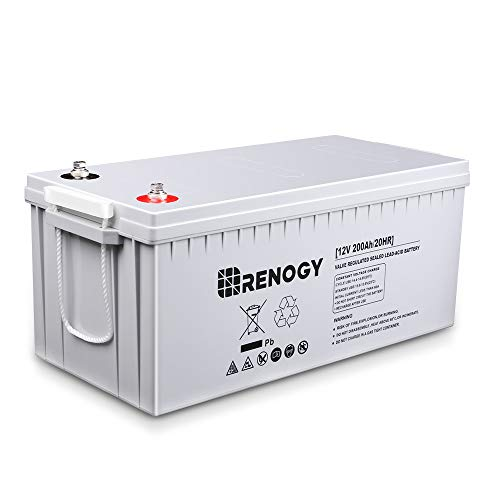 Renogy Deep Cycle AGM Battery 12 Volt 200Ah for RV, Solar, Marine, and Off-grid Applications