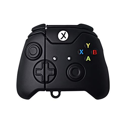 Xbox One S Controller AirPod Case Protective Cover Soft Silicone Shockproof for Apple AirPods 2 & 1, Xbox One x Controller Airpods Case Keychain Bag Pendant Decor Toy (One Controller)