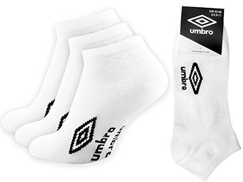 Umbro 9 | 12 | Paar Sneaker Socken Weiá, Sportsocken Jogging (9, 39-42)