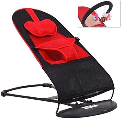 2-in-1 schommelstoel schommelstoel en wip met 3 speelgoed voor baby's en peuters, vanaf 0 maanden, tot ca. 18 kg.