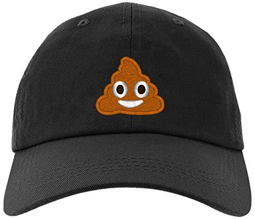 owndis Cap Embroidered Poop Emoji-EM-0035-Black