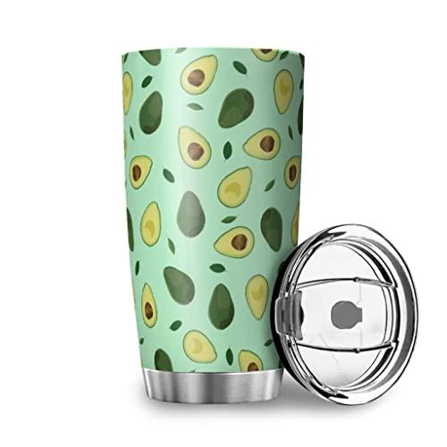 MiKiBi-77 Vaso de agua de acero inoxidable aislado al vacío fácil de limpiar botella de agua para adultos y adolescentes y niños, blanco 20 onzas