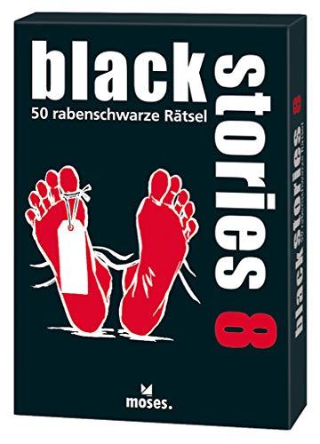 moses. black stories 8 | 50 rabenschwarze Rätsel | Das Krimi Kartenspiel
