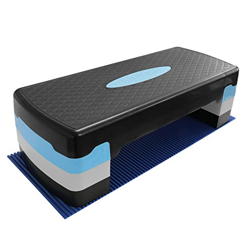 RIORES (リオレス) エアロビクスステップ 踏み台昇降運動 高さ3段階 (10cm/15cm/20cm) マット付き