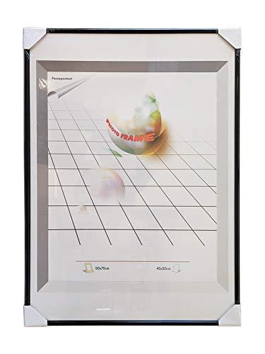 Classico Bilderrahmen Posterrahmen Fotorahmen - Collagen Fotos Bilder Rahmen Deko - universal mit Kunststoffrahmen und bruchsicherer Plexiglasscheibe - 50 x 70 cm (Schwarz)