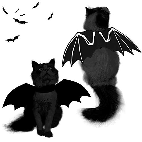 Spooktacular Creations Halloween Bat Wings Cat Pet Costume for Cosplay Party, Halloween Party...