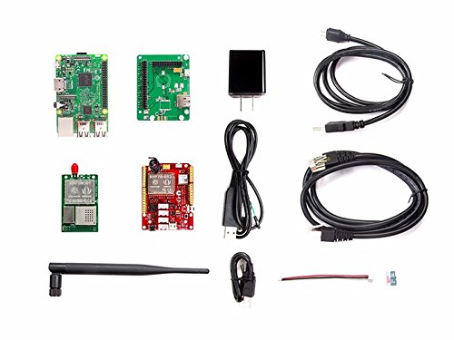 LoRa LoRaWAN Gateway - 868MHz Kit with Raspberry Pi 3,provides all the basic elements you need,Enables you to collect and transfer data between all LoRa nodes,adapter for Raspberry Pi 3 and RHF0M301