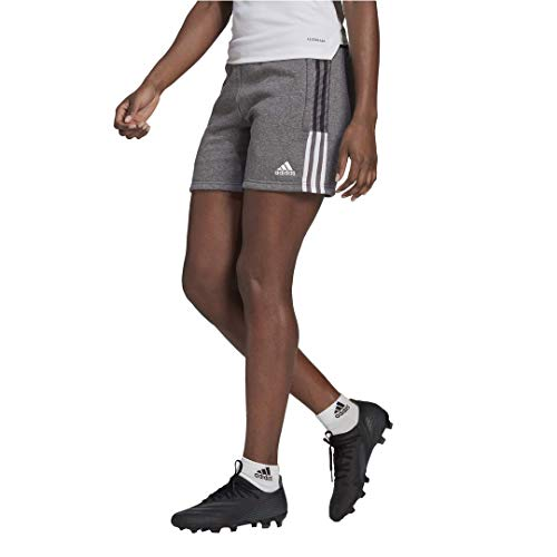 adidas womens Tiro 21 Sweat Shorts Grey Melange Medium