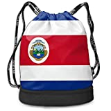 DJNGN Mochila del Lazo, Bolso de la Mochila del Paquete del Gimnasio del Viaje del Deporte de la impresión de la Bandera de Costa Rica