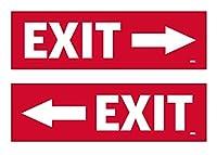 2パック Exit 左 右矢印 ステッカーセット サイン 警告 9x3インチ ビニール デカール 屋内 屋外 窓 ドア ビジネス 小売店