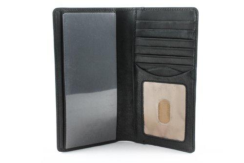Tony Perotti Scheckbuch-Hüllen für Damen, schwarz (Schwarz) - PG409002+BK