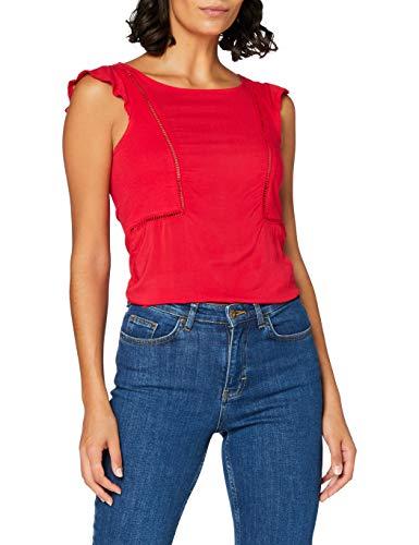 Springfield bimater Entredos-c/65 Camiseta, Naranja (Orange 65), XS (Tamaño del Fabricante: XS) para Mujer