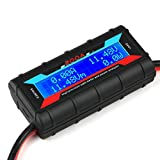 200A High Precision Power Analyzer Watt Meter Battery Consumption Performance Monitor with LCD Backlight for RC, Battery, Solar, Wind Power