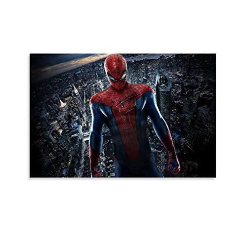 DRAGON VINES Póster de la película The Amazing Spider-Man Peter Parker con la cicatriz de la ciudad, moderno y minimalista, decoración de dormitorio, sala de estar, 40 x 60 cm