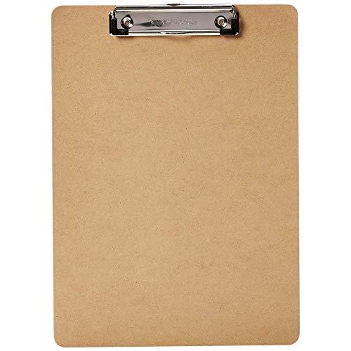 Amazon Basics - Portapapeles rígido, pack de 30