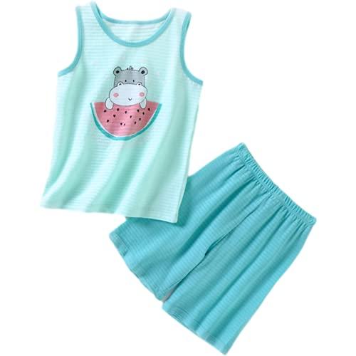 Conjuntos Ropa Verano para Bebés Y Niños Chaleco Patrón Dibujos Animados Algodón Pantalones Cortos Niños Niñas Ropa Ocio para Niños