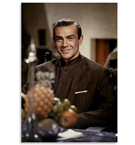 YYCFB Young Beard Sean Connery Canvas Poster And Wall Art Picture Print Modern Family Decor 18X12Inch Kz777Yf