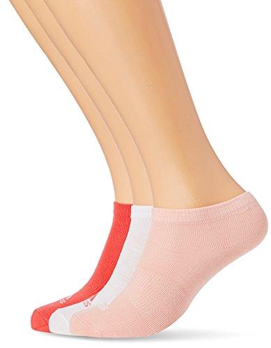 adidas 3 Paar no Show Socken, Still Breeze/White/Core Pink, 43-46