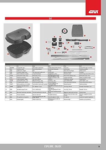 Givi Z45FNM koffer onderdeel zwart 40
