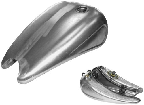 Bikers Choice 2in. Stretched Steel Gas Tank - 4 Gal. 012819