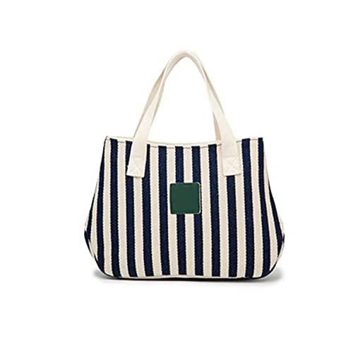 Kfhfhsdgsawcb Bolsa de Almuerzo, Bolsa de cucharón de Lona Rayada, Bolsa de Almuerzo portátil para Mujeres, Adecuado para Actividades al Aire Libre o Escuela, tamaño: 32 * 10 * 20cm (Color : Green)
