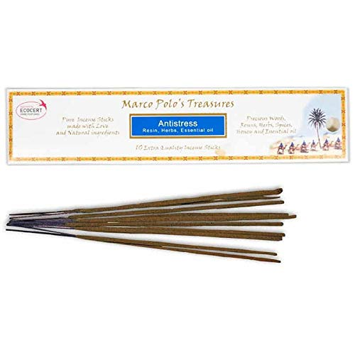 New Antistress, 10 Extra Quality Incense Sticks, Ecocert, Bio, Natural Incense Company, Fiore D'Oriente