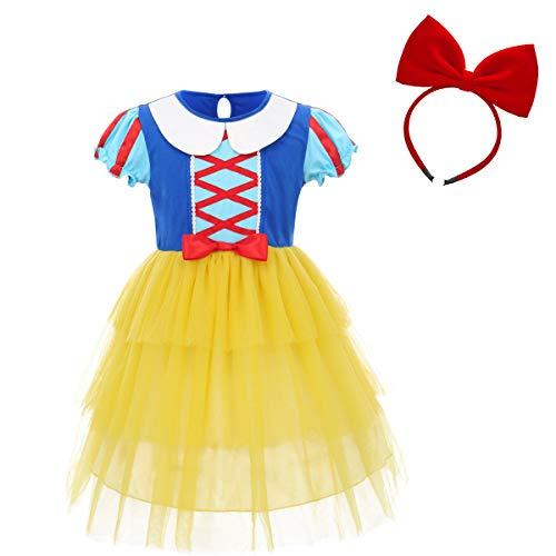 FYMNSI Niñas Disfraz de Blancanieves Vestido de Princesa Grimm