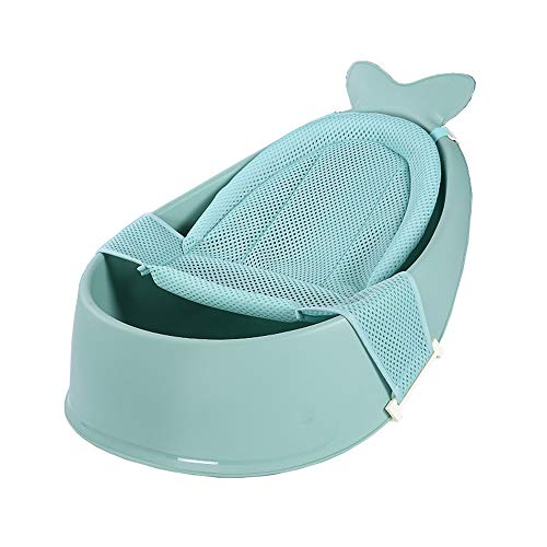 SSZZ badkuip van biologisch materiaal voor baby's, van netstof, duurzaam, antislip, van ademende netstof, om op te zitten en te slapen, groen
