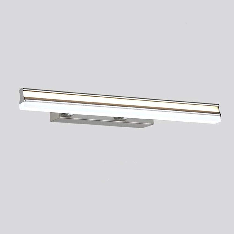 SXFYWYM LED Badezimmerspiegel Licht Wandleuchte Aluminium wasserdichte Teleskop Spiegel Kabinett Lichter Schminktisch Beleuchtung,A,80cm