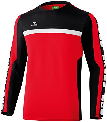 Erima Herren Classic 5-C Trainings Sweatshirt, rot/schwarz/weiß, L