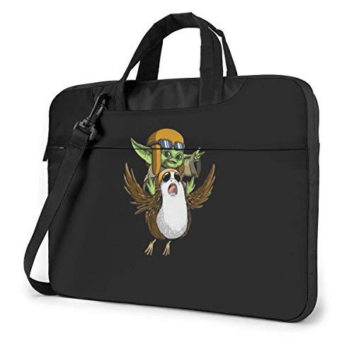 Star Wars Yoda Laptop Bag 14 15 15.6 Inch Briefcase Shoulder Messenger Bag Water Repellent Laptop Bag Satchel Tablet Bussiness Carrying Handbag for Women and Men13 inch