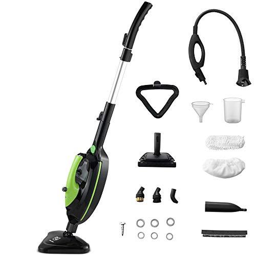 Moolan Steam Mop, Hard Wood Floor Steamer, Handheld Cleaner, Multi-Purpose, Carpet/Tiles/Vinyl/Laminate/Grout Cleaning Machine
