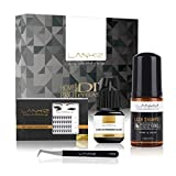 Home PRO DIY Lash Extension Kit for Home Use - LANKIZ Luxury Eyelash Extensions System for Self Application - Pack of Individual Lashes, Sensitive Eyelash Extension Glue, Lash Tweezer, Lash Shampoo