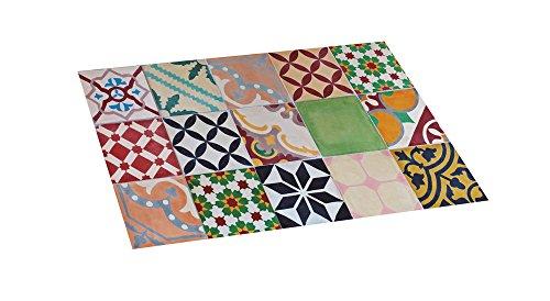STOR PLANET Alfombra vinílica Acolchada Croma Mosaico 45 x 75 cm, Cloruro de polivinilo, 45 x 75