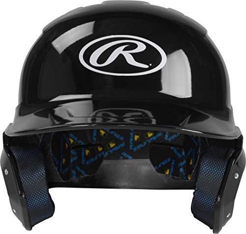 Rawlings Mach Clear Coat Junior Baseball Batting Helmet, Black