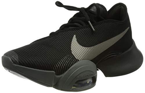 Nike Air Zoom Superrep 2, Gymnastics Shoe Hombre, Black/Metallic Pewter-Iron Grey-Metallic Pewter, 43 EU