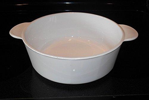 Vintage Corning Ware 3 Quart #1183 Dutch Oven All White Tab Grab It Handles - (No Lid)