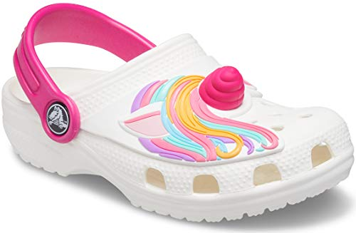 Crocs Fun Lab Classic I AM Unicorn Clog, Unisex Kids Clogs, Unicorn, C12 UK (29-30 EU)