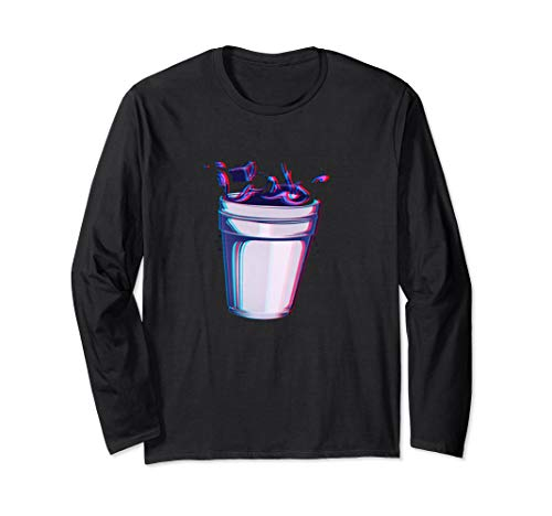 Purple Drank Codein Glitchy Hustensaft Lean Double Cup Langarmshirt