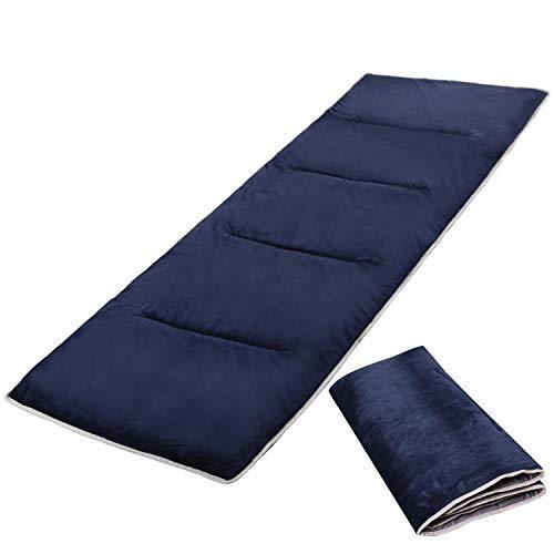 Almohadillas extra grandes para cuna para camping, colchón grueso de algodón suave para cuna de camping, 75 x 28 pulgadas, color azul