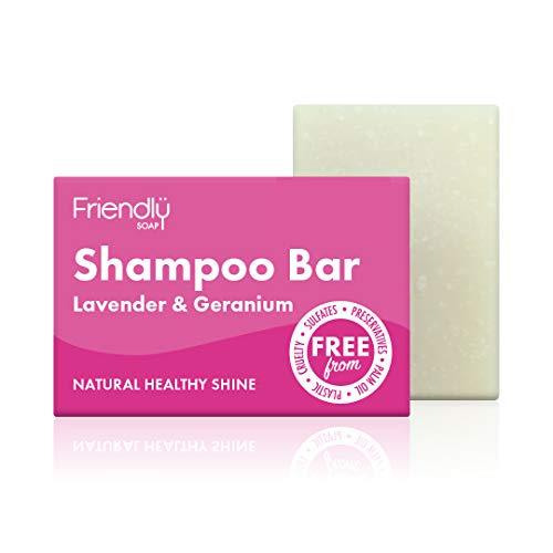 Friendly Soap Natural Shampoo Bar Lavender & Geranium 95g