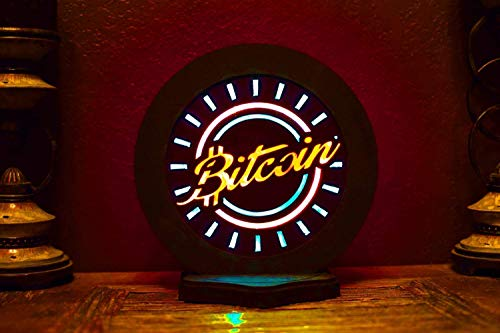 Bitcoin Styled Art Ready To Ship - Handmade, custom designed with LED lighting