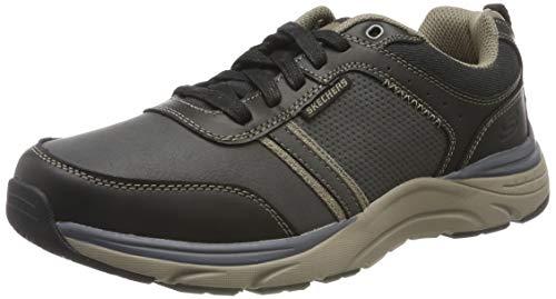 Skechers Sentinal-Lunder, Scarpe da Ginnastica Uomo, Nero (Black Leather Blk), 43 EU
