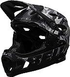 BELL Super DH Mips, Casco da bicicletta MTB Unisex-Adulti, opaco/nero lucido mimetico, L | 58-62cm