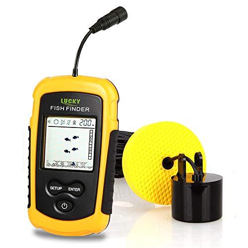 MKNzone 1 pc FF1108-1 Buscador de Peces portátil, Sonar para Pesca, 40m Rastreador de Peces con Sensor