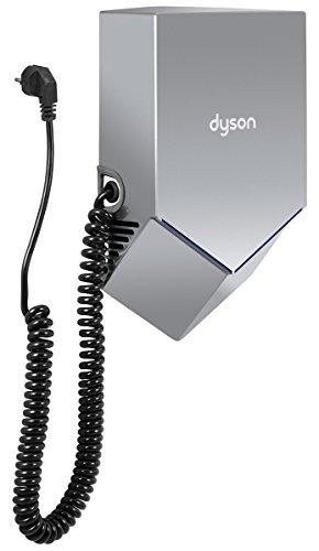 Dyson Airblade™ - HU02 nickel - Plug&Play aus Polycarbonat, Luft Klinge V elektrischer Handtrockner zur Wandmontage